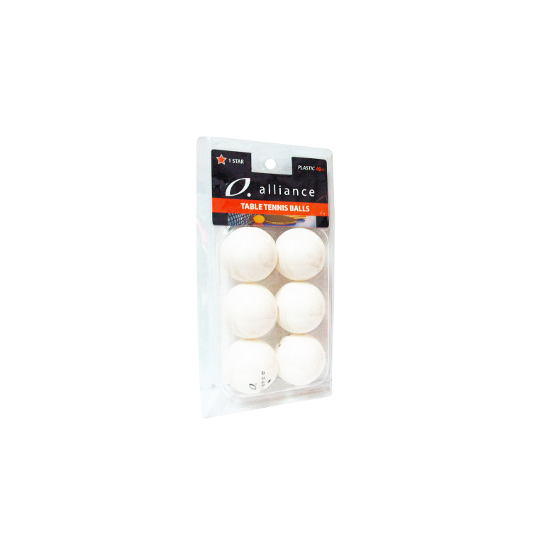 Alliance 1 Star 40+ Abs Table Tennis Balls - Pack Of 6 - Sports Grade