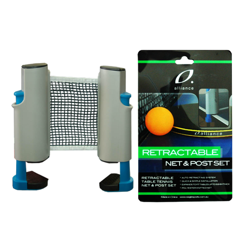 Alliance Retractable Net And Post Set - Sports Grade