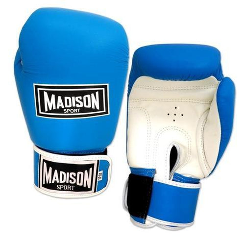 Madison Pro Sparring Gloves - Sky Blue Boxing - Sports Grade