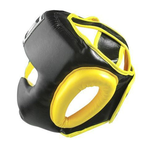 Madison Deluxe Full Face Headguard - Yellow Boxing - Sports Grade