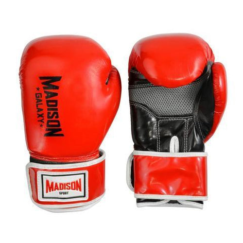 Madison Galaxy Training Gloves - Red Boxing - Sports Grade