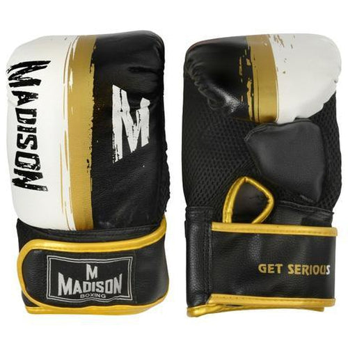 Madison Mission Boxing Mitts - Black Boxing - Sports Grade