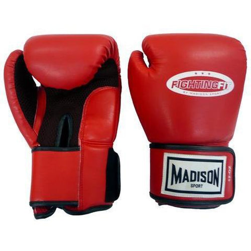 Madison Fighting Fit Training Glove - Red Boxing - Sports Grade