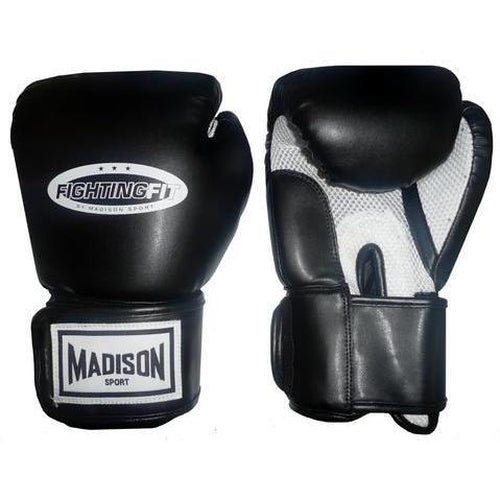 Madison Fighting Fit Training Gloves - Black Boxing - Sports Grade