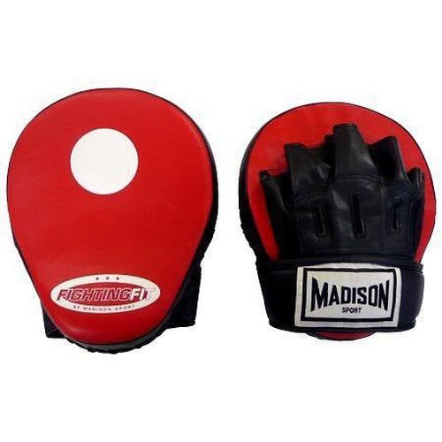 Madison Fighting Fit Focus Mitts - Red Boxing - Sports Grade