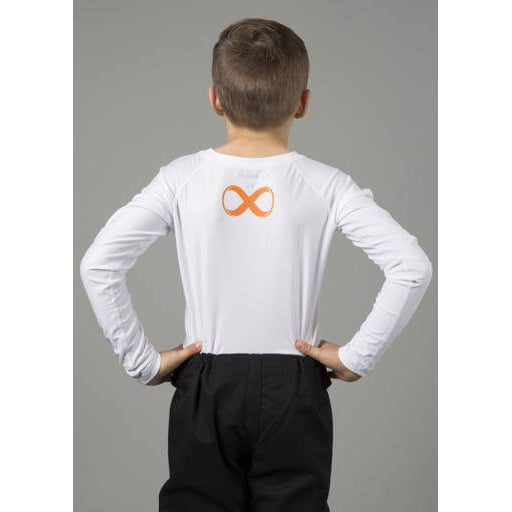 Braus Fight - White Rash Guard Long Sleeve – kids - Sports Grade