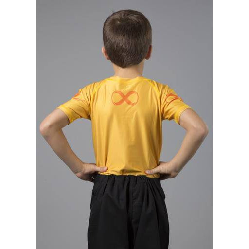 Braus Fight - Yellow Rash Guard Short Sleeve – kids - Sports Grade