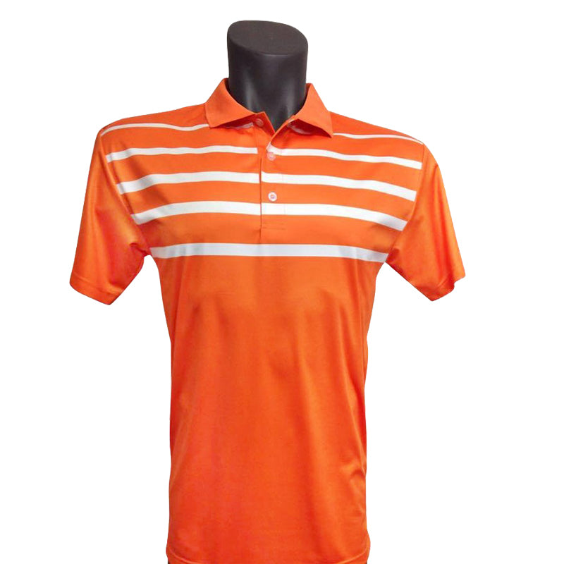 Onyx Mens Golf Shirt – Noosa Orange - Sports Grade