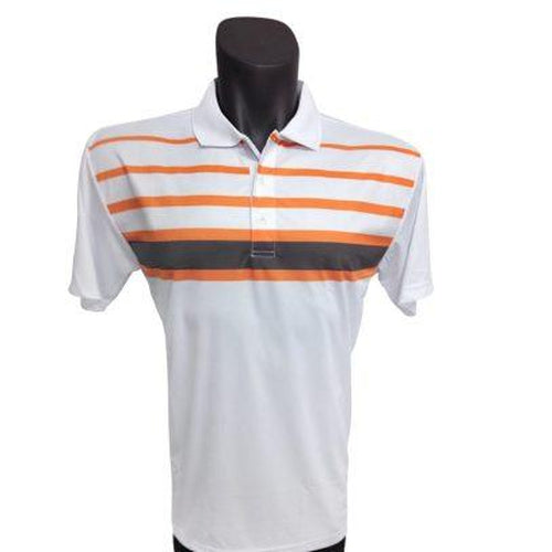 Onyx Mens Golf Shirt – Noosa White Large - Sports Grade