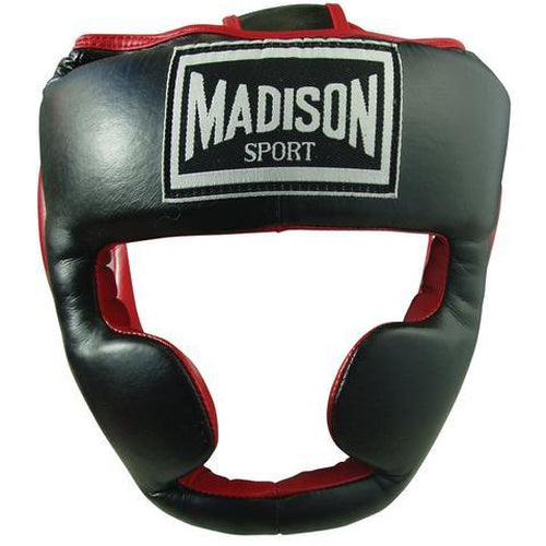 Madison Deluxe Full Face Headguard - Red Boxing - Sports Grade