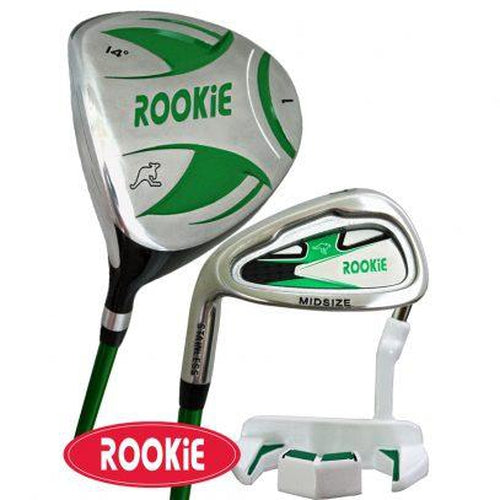 Rookie Junior Golf Set LH | 3Pce Green 7 to 10 YRS - Sports Grade