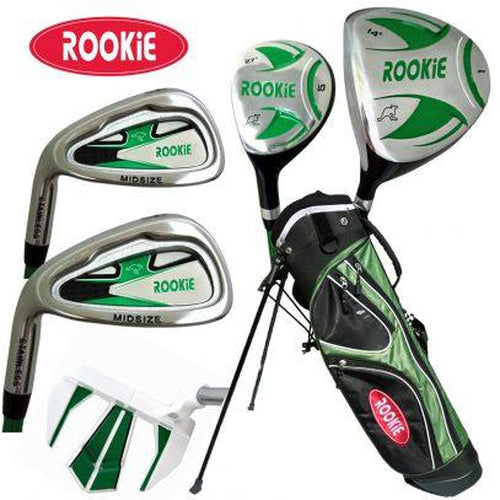 Rookie Kids Golf Set LH | 6Pce Green 7 to 10 YRS - Sports Grade