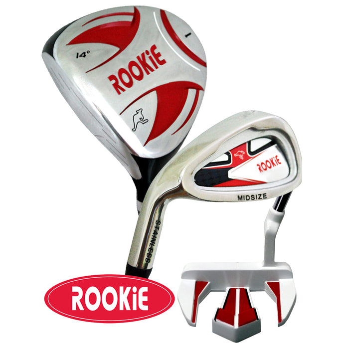 Rookie Junior Golf Set RH | 3Pce Red 10 years + - Sports Grade