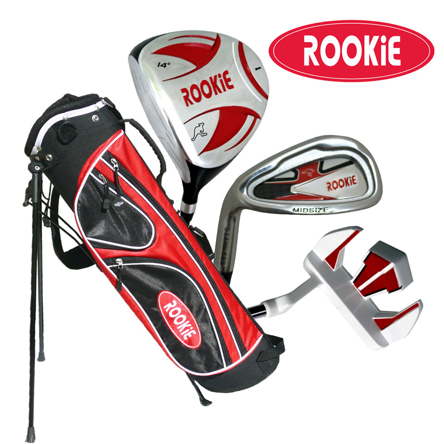 Rookie Junior Golf Set LH | 4 Pce Red for 10 Yrs & Over - Sports Grade