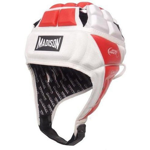 Madison Coolmax Headguard - Red/white Rugby League NRL - Sports Grade