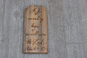 Engraved on plank - Joshua 24:15