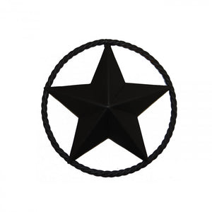 "12"" STEEL STAR W/RING - BLACK"