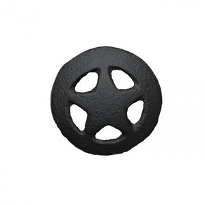 "2-1/2"" STAR PULL KNOBS - BLACK"