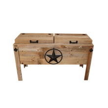 Load image into Gallery viewer, DOUBLE COOLER-STEEL STAR W/ROPE-BLACK