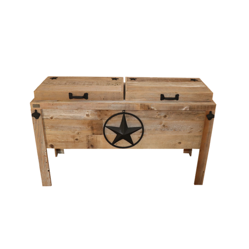 Double Cooler with Steel Star with Rope - Black