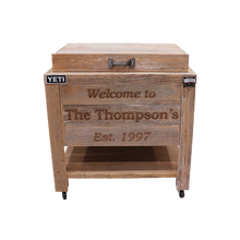 Load image into Gallery viewer, 3 Lines Engraved on a Yeti 45 Cooler- Pewter