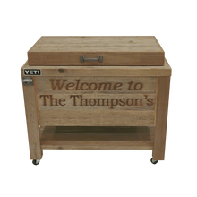 Load image into Gallery viewer, 2 Lines Engraved on a Yeti 65 Cooler- Pewter
