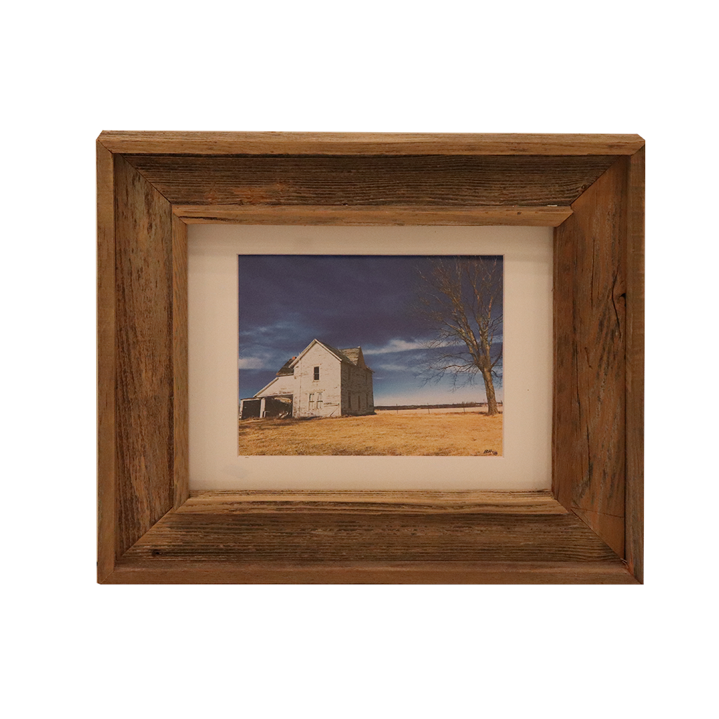 Wooden Double Frame Matte Image White House