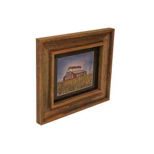 Wooden Double Frame Matte Image Aggies