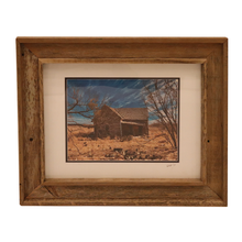 Load image into Gallery viewer, Wooden Double Frame Matte Image Brown House