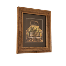 Load image into Gallery viewer, Wooden Double Frame Matte Image Old Truck