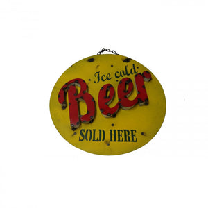 BEER SOLD HERE--METAL SIGN
