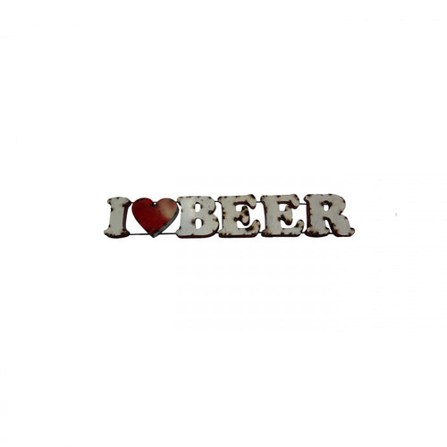 I LOVE BEER--METAL SIGN