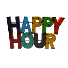 Load image into Gallery viewer, Happy Hour - Metal Sign