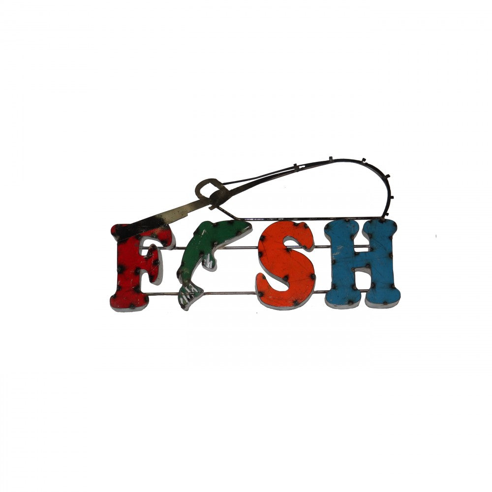 FISH--METAL SIGN