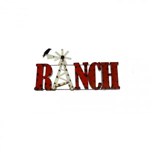RANCH-LARGE--METAL SIGN