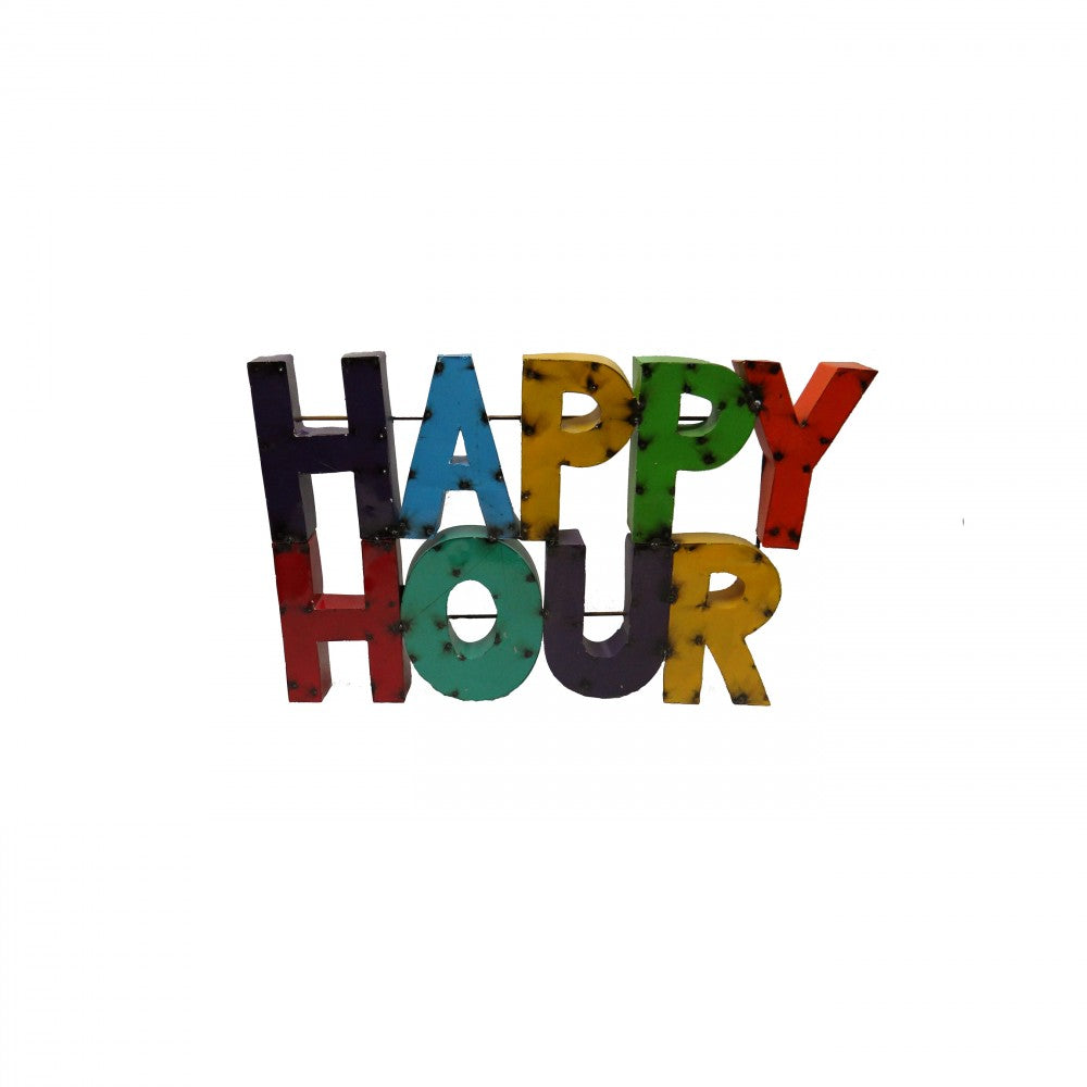 HAPPY HOUR-LARGE--METAL SIGN