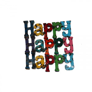HAPPY HAPPY HAPPY--METAL SIGN
