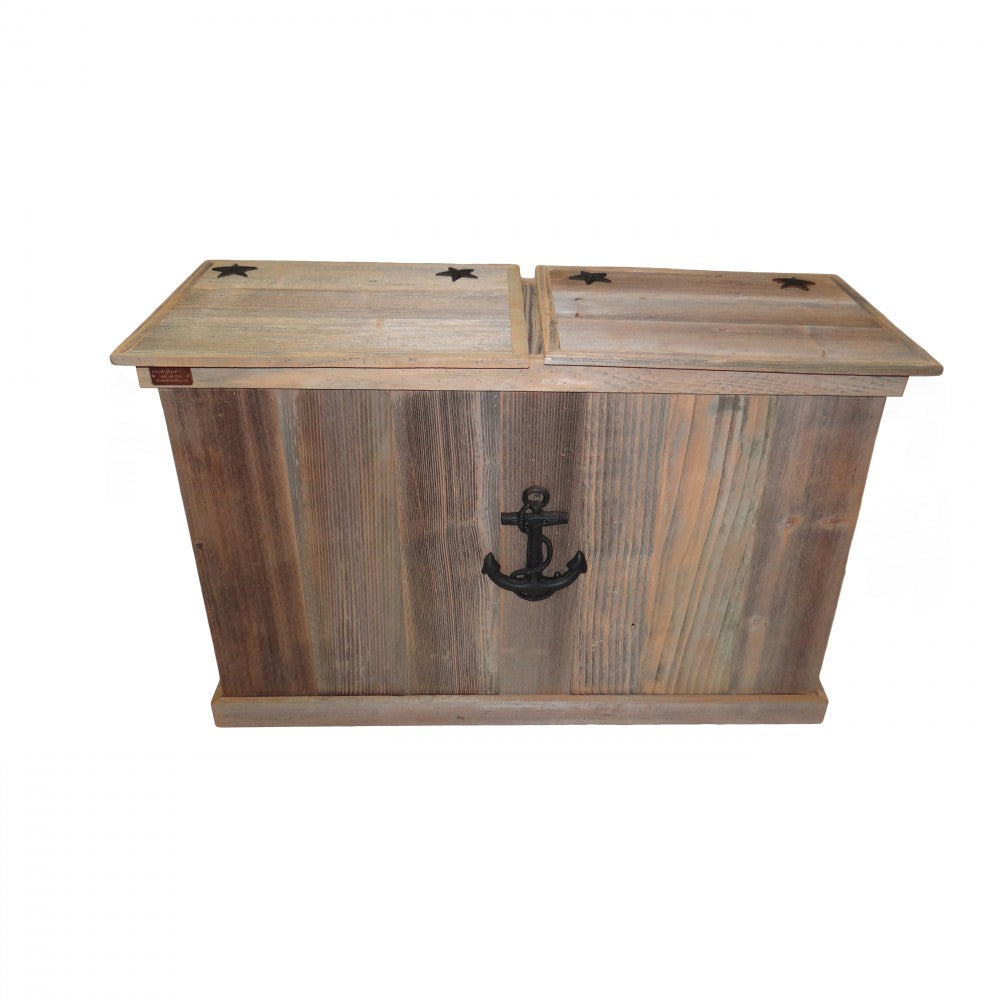 Trash Can - Double - Sea Anchor - Black