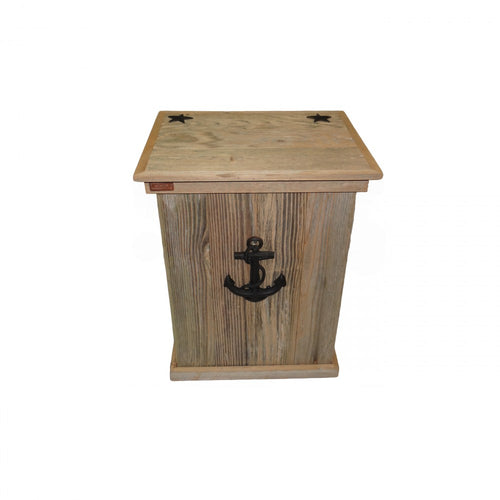 Trash Can - Single - Sea Anchor - Black