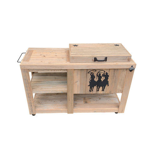 Single Cooler with Table - Tres Hombres - Black