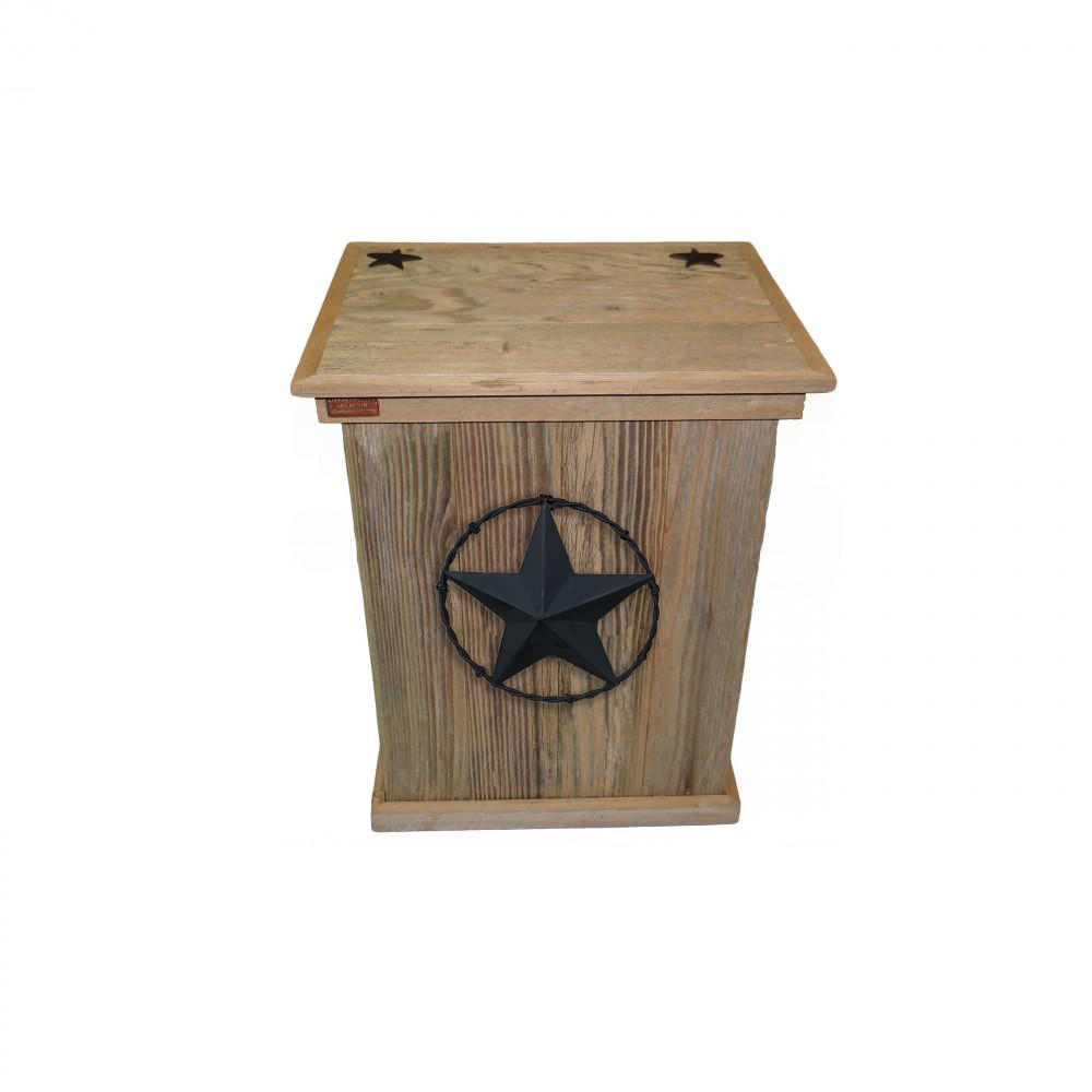Rustic Trash Cans - Barbed Wire - HRTCSI004B