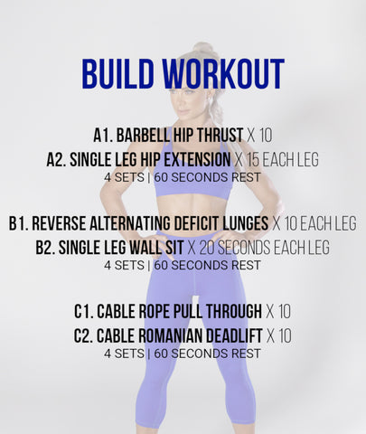 8 Week Build Program Sample Workout | Lauren Simpson Fitness