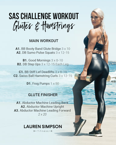 SAS Challenge Workout | Glutes & Hamstrings
