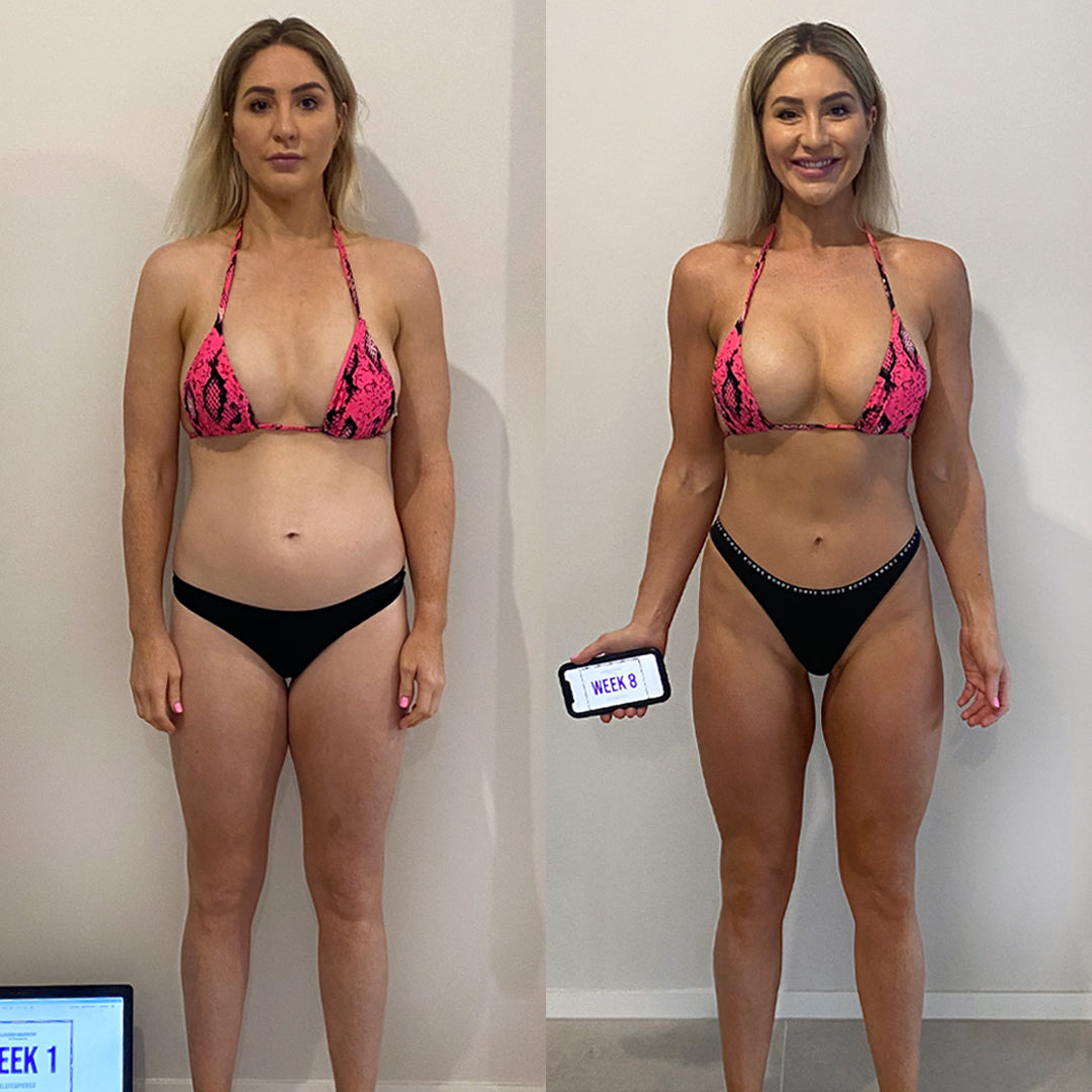 Tania's transformation, front