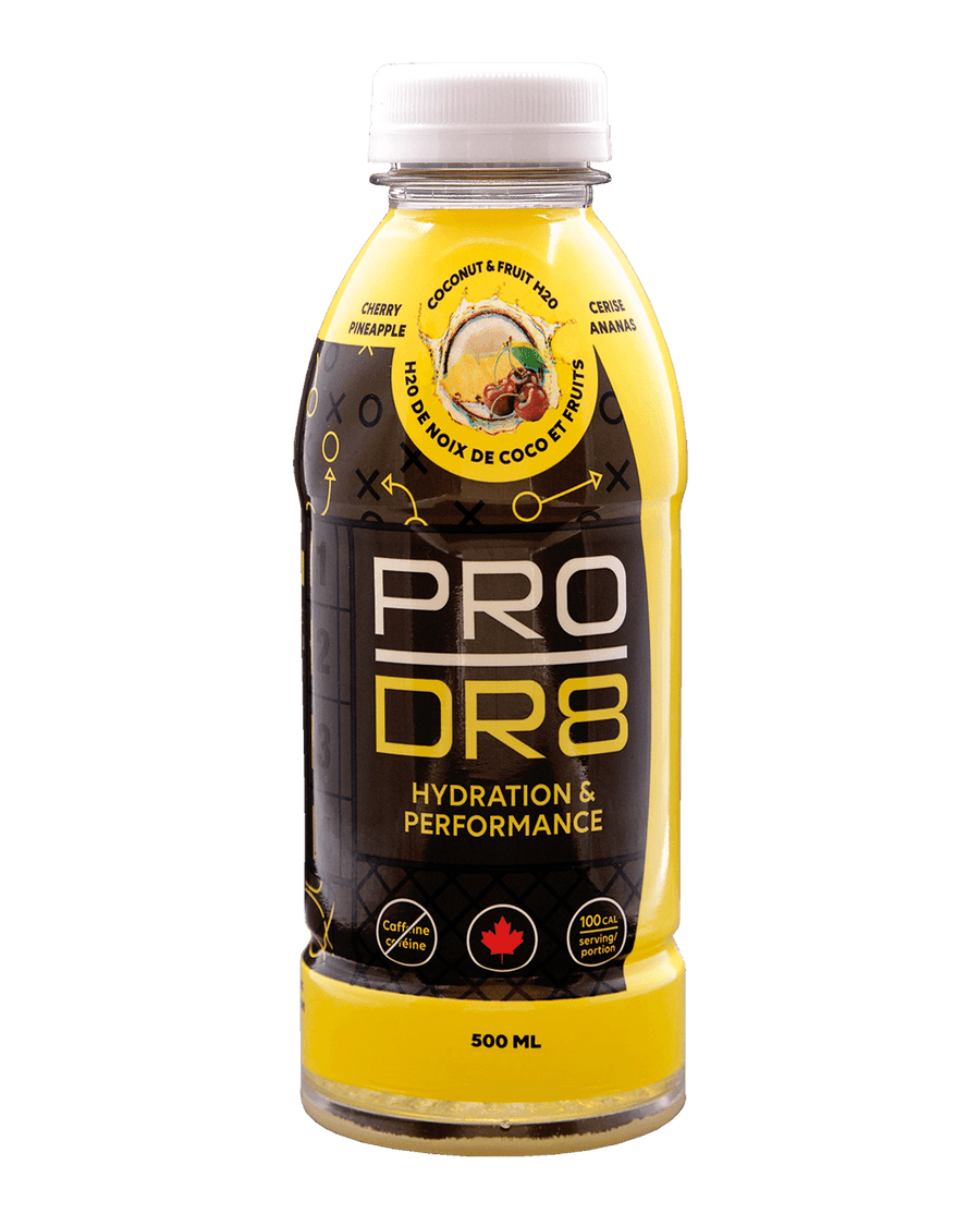 Pineapple and Cherry flavoured ProDr8 sports drink