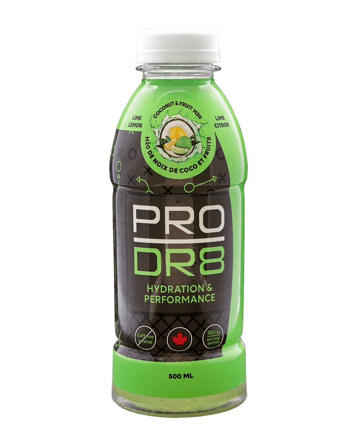 Lemon and Lime flavoured ProDr8 sports drink