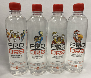 PRO DR8 | ALKALINE WATER | HEROS | ICE | STRENGTH | FIRE |