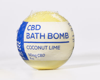 CBD Living Bath Bomb 60mg Coconut Lime