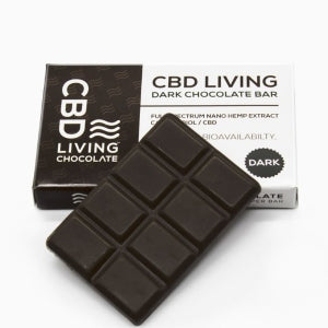CBD Living Chocolate Bar - Dark Chocolate (120mg CBD)