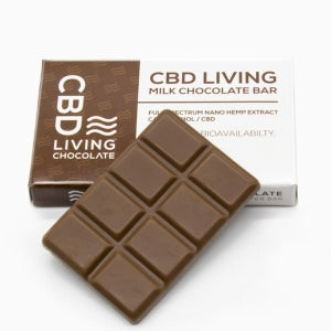 CBD Living Chocolate Bar - Milk Chocolate (120mg CBD)